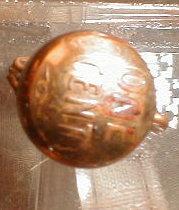Copper PENNY Kettle CHARM 1 Cent Piece ANTIQUE-