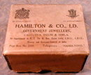 INDIA Jewelry BOX Hamilton Co CALCUTTA Vintage-