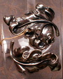 Napier STERLING Broochs (2) Leaf PINS -Vintage-