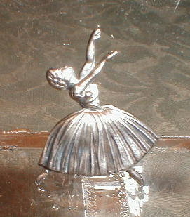 STERLING Silver BALLERINA Pin -BRITISH England-