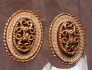 PASTELLi Earrings VINTAGE Gold FILIGREE