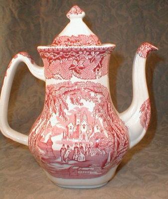 Masons VISTA Coffee Pot PINK - Vintage -