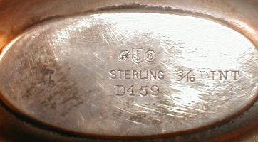 GORHAM Sterling FLASK Leather - ANTIQUE -
