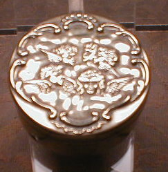 ANGEL Topped TRINKET Box -ANTIQUE-