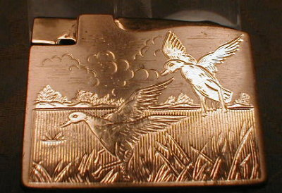 ELGIN Lighter Ducks Engraved - VINTAGE -