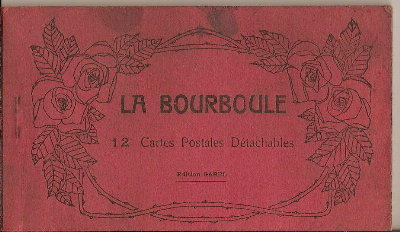 FRENCH PostCARD Book La Bourboule -12 CARDS-