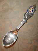 MONTREAL Souvenir STERLING Enamel - SPOON -