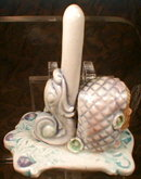 MAJOLICA Nouveau RING Holder MERMAID Head -