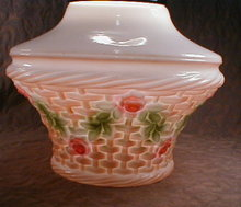 GLASS Basket SHADE Ceiling LAMP - Antique -