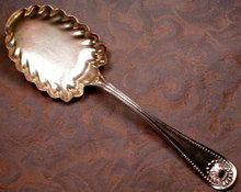WHITING Sterling BEAD Berry SPOON Gold WASH