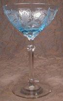 Fostoria VERSAILLES Blue - CHaMPaGNE Sherbet - (2)
