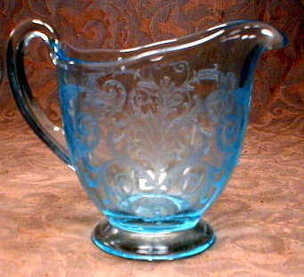 Fostoria VERSAILLES Blue Cream & Sugar -SET-