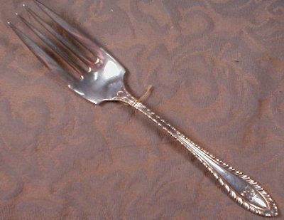 Towle GODROON Sterling SERVING Fork ANTIQUE -