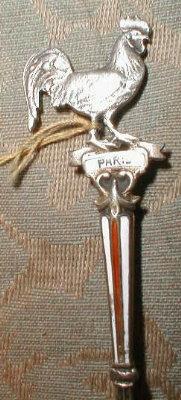 PARIS Souvenir SPOON Germany Silver ENAMEL -