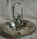 STERLING Hand WASHING Ewer+Bowl Rachtzah SEDER