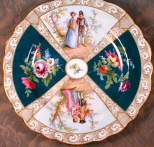 MEISSEN Scenic PANEL Plate - HAND Painted -