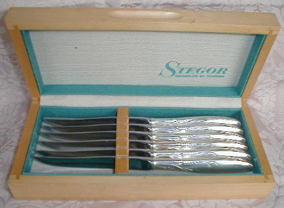 GORHAM Silver STEAK Knives (6) Stegor CERES -