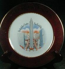 ROCKEFELLER Center PLATE New York City SOUVENIR