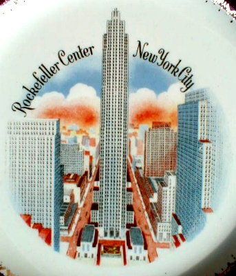 ROCKEFELLER Center PLATE New York City SOUVENIR