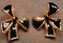 KJL Earrings ENAMEL Bows AVON Kenneth J Lane -