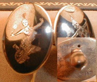 STERLING Silver CUFFlinks -4- pairs VINTAGE -