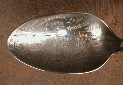 WYOMING Sterling SOUVENiR  Spoon - CHEYENNE -
