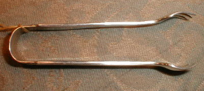 STERLING Sugar TONGS Heirloom SILVER Co. -1949-