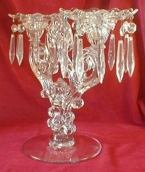 Elegant GLASS CandleSTICKS Prisms - LARGE Pair -