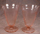 Pink PRINCESS Tumblers -2- Footed ICED Tea -