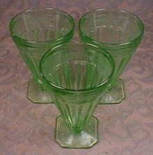 Green JEANETTE Adam FOOTED Tumblers -3-