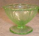 GREEN Cherry BLOSSOM Bowls -4- Berry & Sherbet-