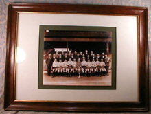 RUGBY Team PHOTO Framed - ANTIQUE -