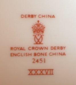 IMARI Royal CROWN Derby Creamer & Sugar -SET-