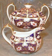IMARi Royal CROWN Derby CREAM Sugar - SET -