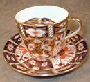 IMARI Mustache CUP Saucer -ROYAL Crown DERBY-