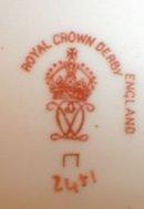 IMARI Mustache CUP Saucer -ROYAL Crown DERBY-