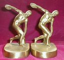 Discus THROWER BookENDS - VINTAGE -