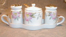 Noritake AZALEA Condiment SET 4 pcs -ANTIQUE-