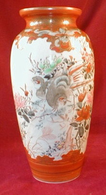 Antique KUTANI Vase - HAND Painted -