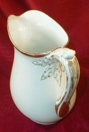 Haviland LIMOGES Pitcher WHITE & GOLD -19th C -