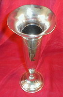 STERLING Silver VASE Hand Chased - RM Wood -