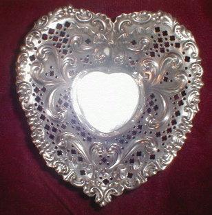 GORHAM Sterling HEART Shape DISH - Antique -