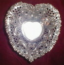 GORHAM Sterling HEART Shape DISH - Antique -