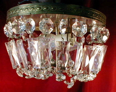 Crystal CEILING Fixture - VINTAGE -