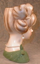 NAPCOware HEAD Vase C7294 -Earrings- VINTAGE -