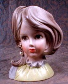 TEEN Head VASE Inarco E6211 - Vintage -