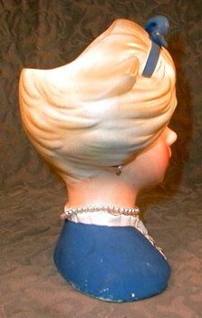 Lark TEEN Head Vase JN-4113 Young Blond VINTAGE