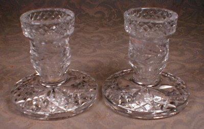 WATERFORD Glandore CANDLEsticks - VINTAGE -