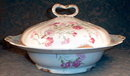 LIMOGES Covered VEGETABLE Carnations -ANTIQUE-
