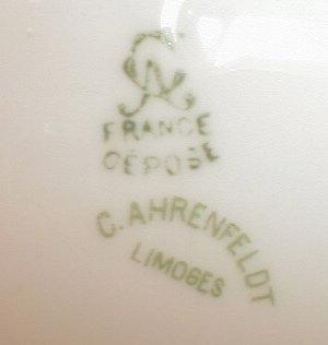 LIMOGES Covered VEGETABLE Carnations -ANTIQUE-